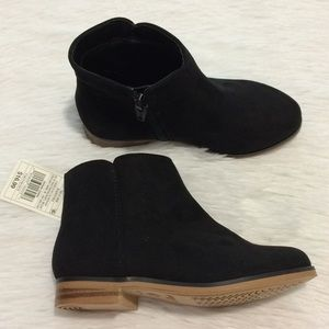 Cat & Jack Girls Sz 10 Black Back Zipper Booties